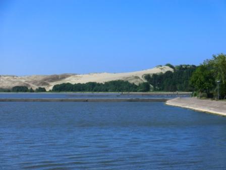 Die Düne in Nidden,  auf dem Foto unrealistisch klein...