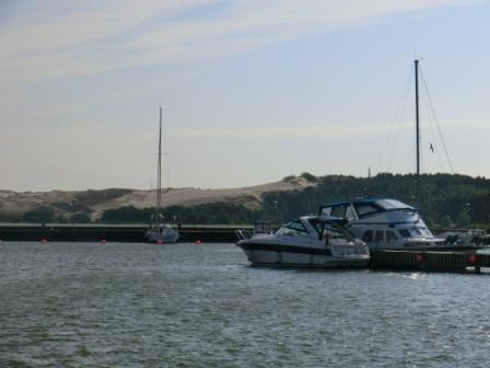 ELSE im Hafen von Nidden mit Dünenblick...