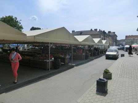 Markt in Klaipeda, eher dürftig...