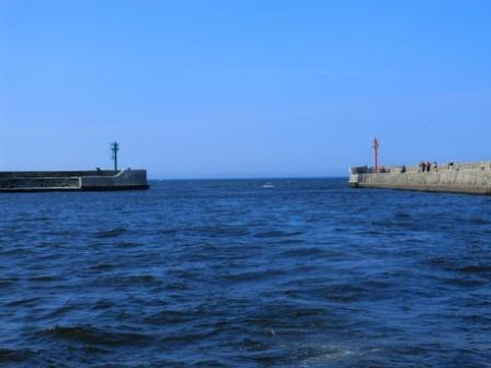Ustka, Hafeneinfahrt